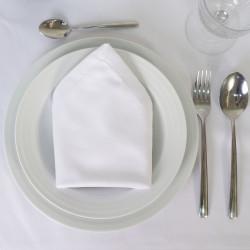 Servilleta satén blanco hostelería