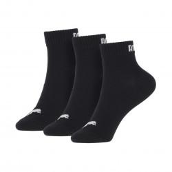 Puma quarter plain black 3 paires