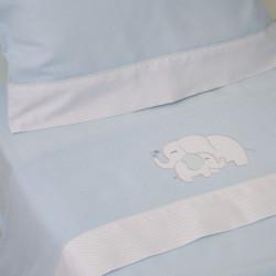 Ensemble feuilles de bougie éléphant bleu