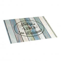 Tapis de cuisine en vinyle text lunch 45x75