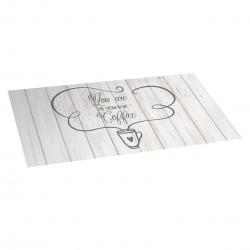 Tapis de cuisine en vinyle text coffee 50x110