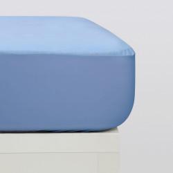 Protecteur matelas tencel bleu
