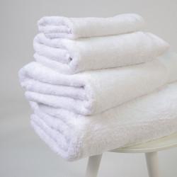 Serviette de coton pima 600 gr / m2 blanc