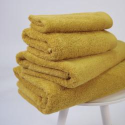 Serviette coton pima 600 gr / m2 moutarde