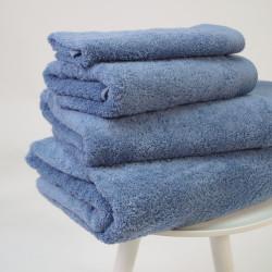 Serviette de coton pima 600 gr / m2 bleu
