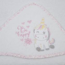 Unicorn bain manteau 124 bco / rose