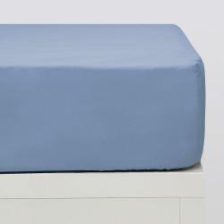 Draps-housse Basic Indigo 18 bleu
