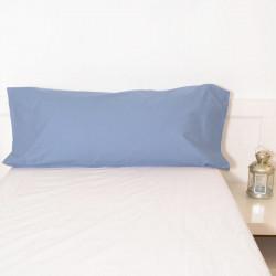 Taie d'oreiller basique bleu indigo 18