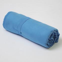 Serviette en microfibre bleue