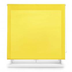 Tissu jaune translucide enroulable