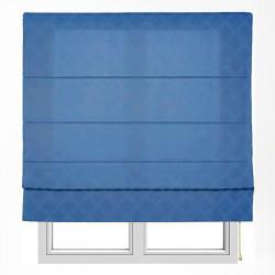 Store jacquard bleu xaloc avec tringles