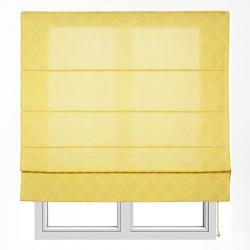 Store en jacquard xaloc jaune avec tringles