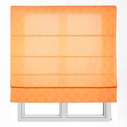 Store jacquard orange xaloc avec tringles