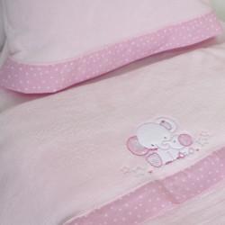 Ensemble de draps pour lit de bébé Coral 084 rose