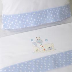 Ensemble de draps pour lit de bébé 068 bco / bleu