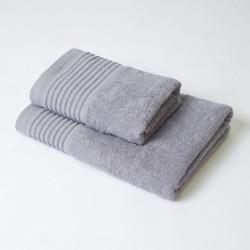 Ensemble de serviettes 2P Kate gris aluminium
