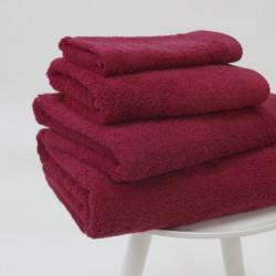 Serviette coton bio 600 gr / m2 bordeaux