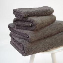 Serviette coton bio 600 gr / m2 plomb