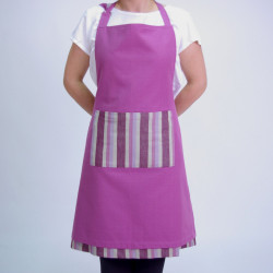 Reversible apron lila