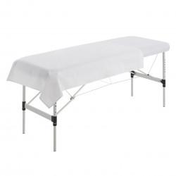 Drap de dessus de table de massage blanc
