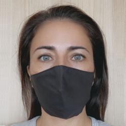Pack 2 masques hygiéniques viroblock noirs