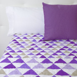 Couette triangles lilas clair
