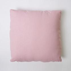 Housse de coussin en toile lisse 43x43 c / rose