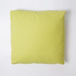 Housse de coussin 43x43 toile unie avec pistache
