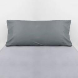 Taie d'oreiller en coton gris