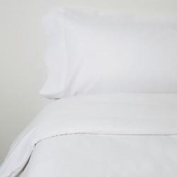 Housse de couette en coton blanc 2p