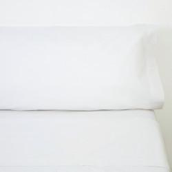 Ensemble de draps en coton blanc