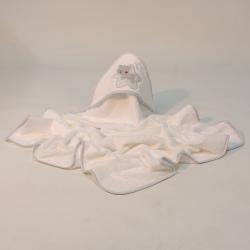Capa bain star blanc-gris