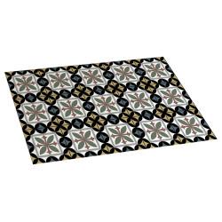 Hydra black vinyl carpet 45x75
