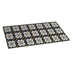 Hydra black vinyl carpet 50x110