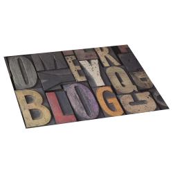 Lettres vinyl rug bois 45x75