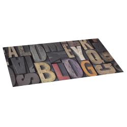 Bois lettres vinyl rug 50x110
