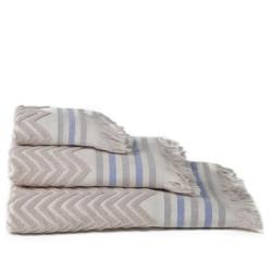 Zig-zag sont jacquard serviette beig