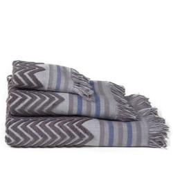 Zig-zag sont jacquard grey serviette