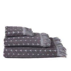 Tang jacquard grey serviette
