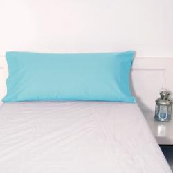 24 taies d'oreiller turquoise de base